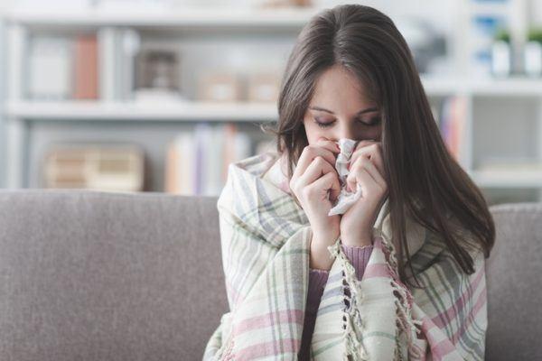 Neumonia contagio por el virus de la gripe