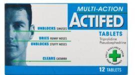 Actifed: Indicaciones, Efectos secundarios y Advertencias