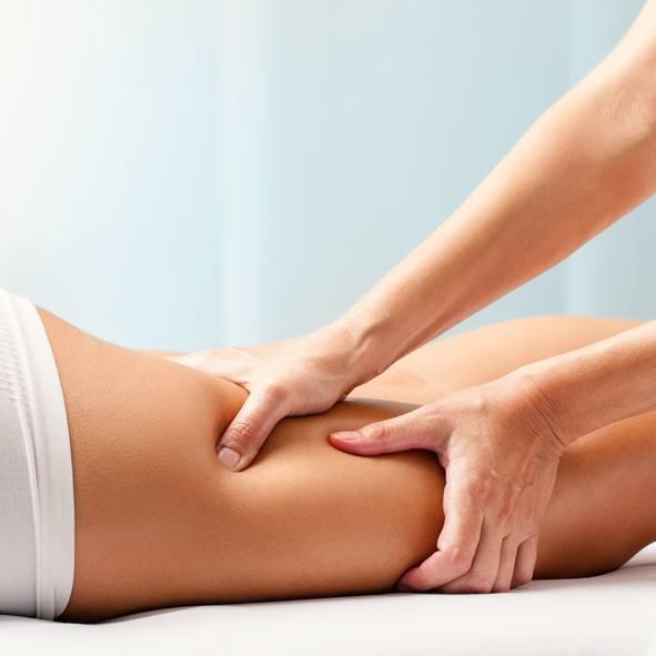 Auto masaje aductores a dos manos