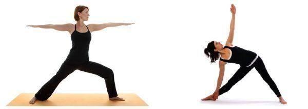 beneficios-del-yoga-posturas-para-principiantes-posturas-postura-guerrero-y-triangulo