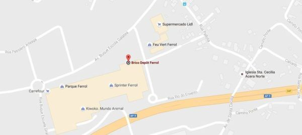 brico-depot-horario-ferrol-mapa