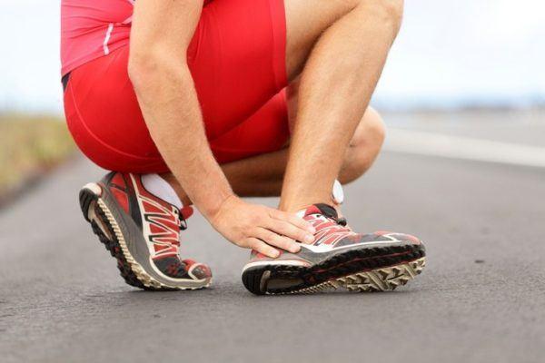 Esguince de tobillo deportista