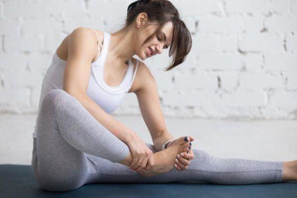 Esguince de tobillo yoga
