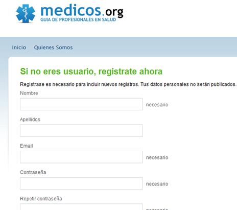 Guía de médicos España