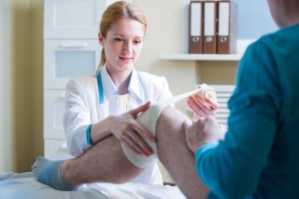 Lesiones de rodilla venda